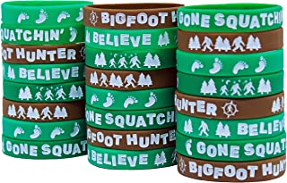 Gypsy Jade's Bigfoot Party Favors - Wristbands for Sasquatch Themed Parties - Pack of 24!