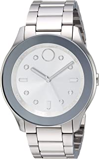 Movado Women's Swiss-Quartz Watch with Stainless-Steel Strap, Silver, 19 (Model: 3600415)