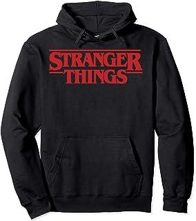 Netflix Stranger Things Simple Red Logo Sweat à Capuche