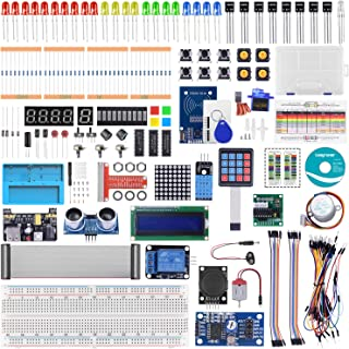 Longruner RFID Starter Kit for Raspberry Pi 4 B 3 B+ A+ 2 1 Zero W with RAB Holder, Breadboard, Detailed Tutorials, Python C Language, 215 Items, 21 Projects, Learning Electronics and Programming