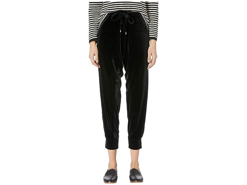 Eileen Fisher Ankle Drawstring Slouchy Pants (Black) Women