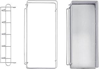 ECR4Kids Rolling Utility Cart 3-Piece Accessory Pack - Hooks, Paper Roll Rail, Shelf Extension