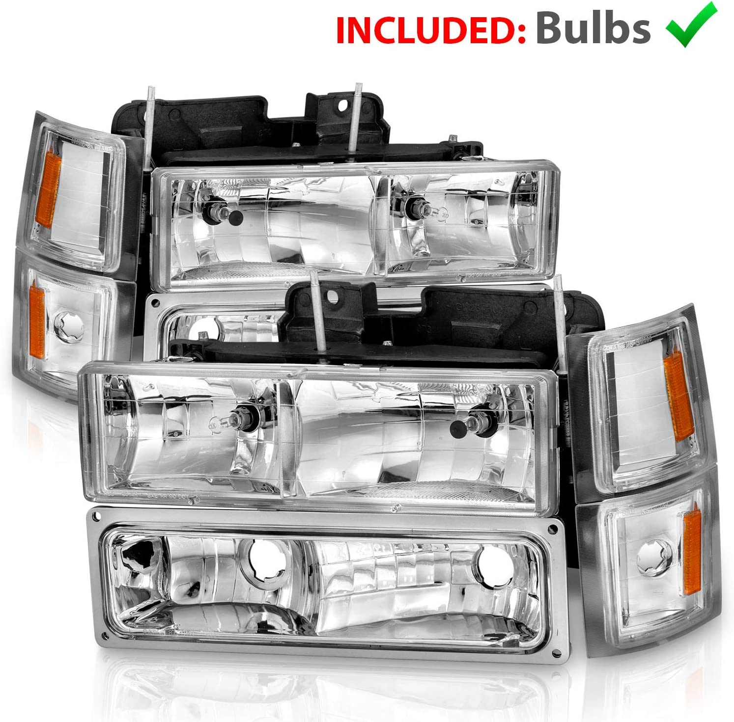 AmeriLite Clear Replacement Headlights Challenge the lowest price of Japan Miami Mall Turn Sets Parking Signal