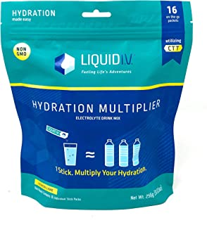 Liquid Iv, Lemon Lime Hydration Pouch, 0.56 Ounce (Pack of 16)
