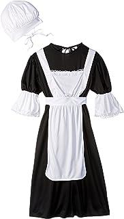 RG Costumes Pilgrim Girl Costume, Black/White, Medium