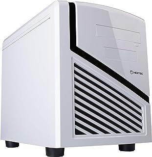 Hiditec | Caja de Ordenador Blanca Snow Kube Formato Micro ATX | Mini Torre de PC | Carcasa de Acero SECC | Gran Refrigeración | Configuración de Alto Rendimiento | Chasis de Sobremesa Blanco