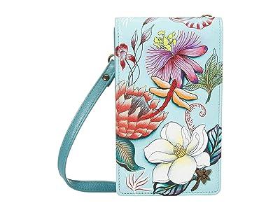 Anuschka Handbags Smartphone Crossbody 1154 (Jardin Bleu) Handbags