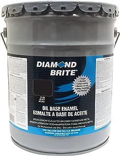 Diamond Brite Paint 31100 5-Gallon Oil Base All Purpose Enamel Paint Black