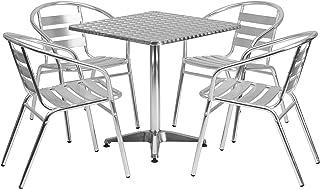 Flash Furniture 27.5'' Square Aluminum Indoor-Outdoor...