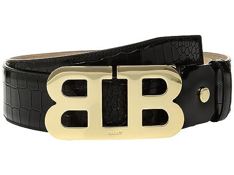 Bally Mirror B 45 Croc Stamped Belt