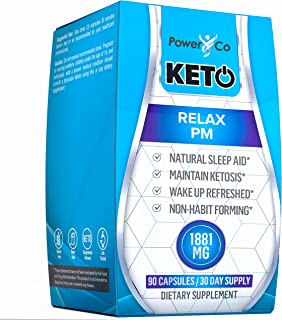 PowerCo Natural Deep Sleep Aid - Adult Herbal Sleeping Supplement & Keto Pills in One - Promotes REM, Brain Function, Nigh...