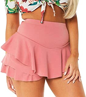 Solarwind2 Skiirts Skirt Black Skirt Layered Ruffled Frill Skorts High Waisted Mini Shorts cortas-30