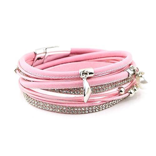 Pink Bracelets: Amazon co uk