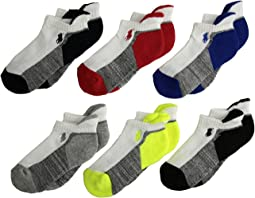 Athletic Back Tab 6-Pack Socks (Toddler/Little Kid)