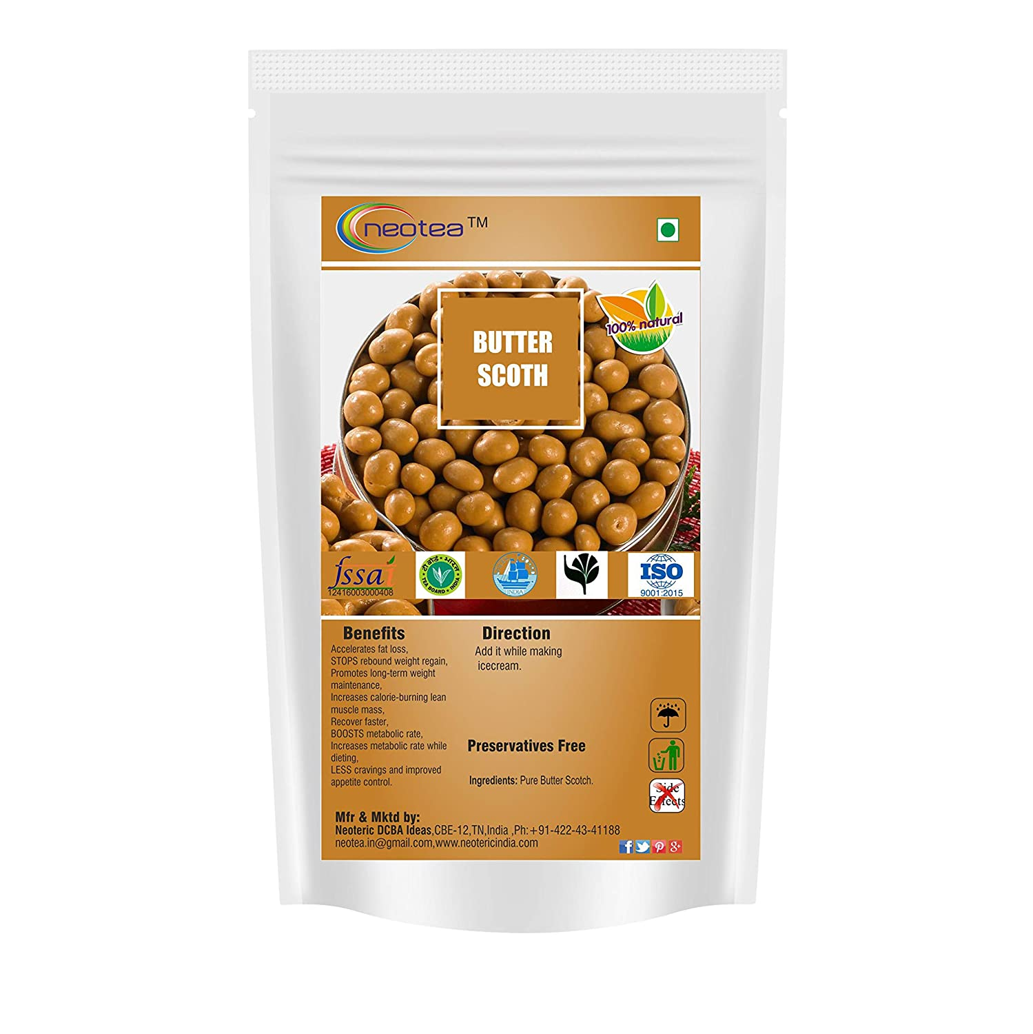 Neotea Recommendation Butter 250g Mail order Scotch