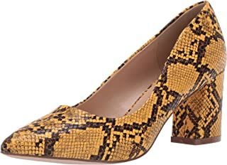 Penny Loves Kenny Women's Print Pump, yellow faux Snake, 9.5 US wide