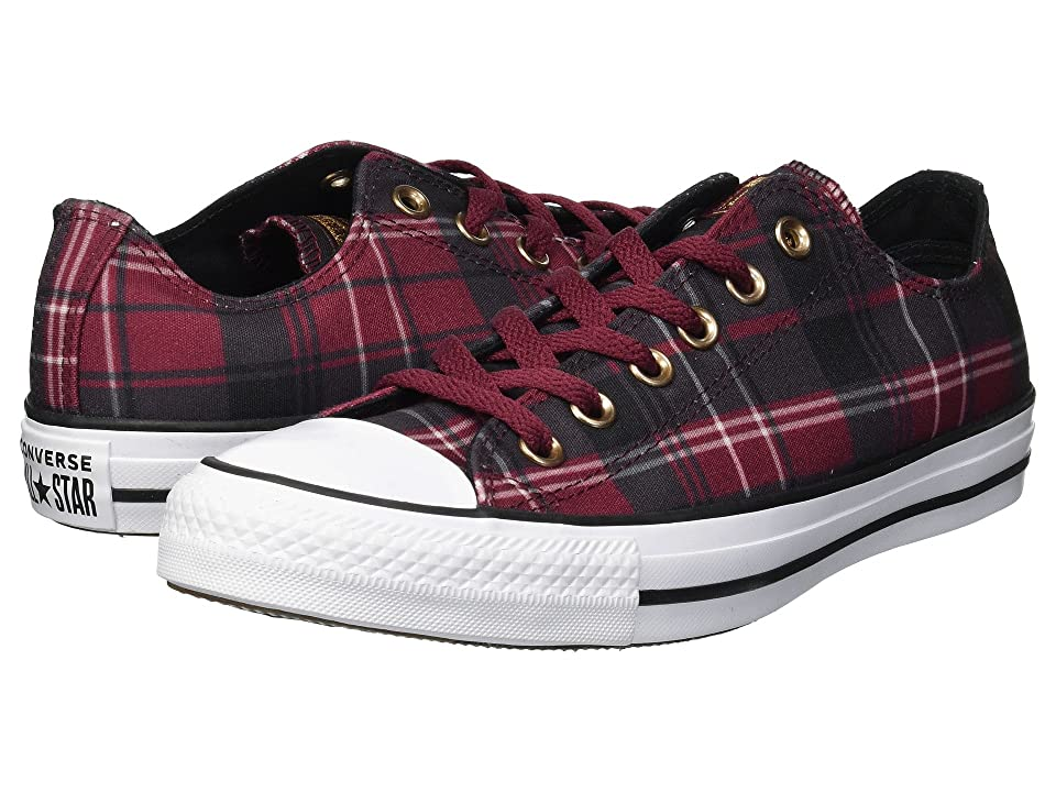 Converse Chuck Taylor All Star Mad For Plaid Ox (Dark Burgundy/Black/White) Women