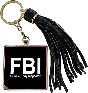 3dRose Mark Andrews ZeGear Cool - FBI Female Body Inspector Black - Tassel Key Chain (tkc_32853_1)
