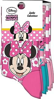 Kids Licensing,   Calcetines Infantiles - Calcetines con Diseño Disney - Diferentes Diseños de Minnie Mouse - Tejido Transpirables - Elástico en Arco Licencia de Producto Oficial