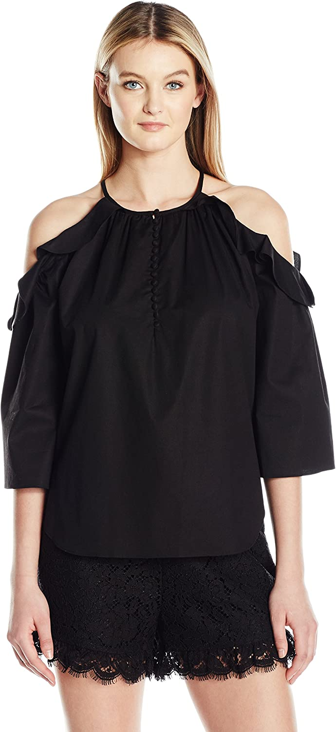 Rachel Zoe Womens Lenora Top Blouse