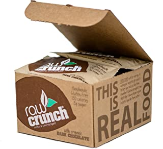 Raw Crunch Bars - Organic Dark Chocolate - Box of 12 Bars