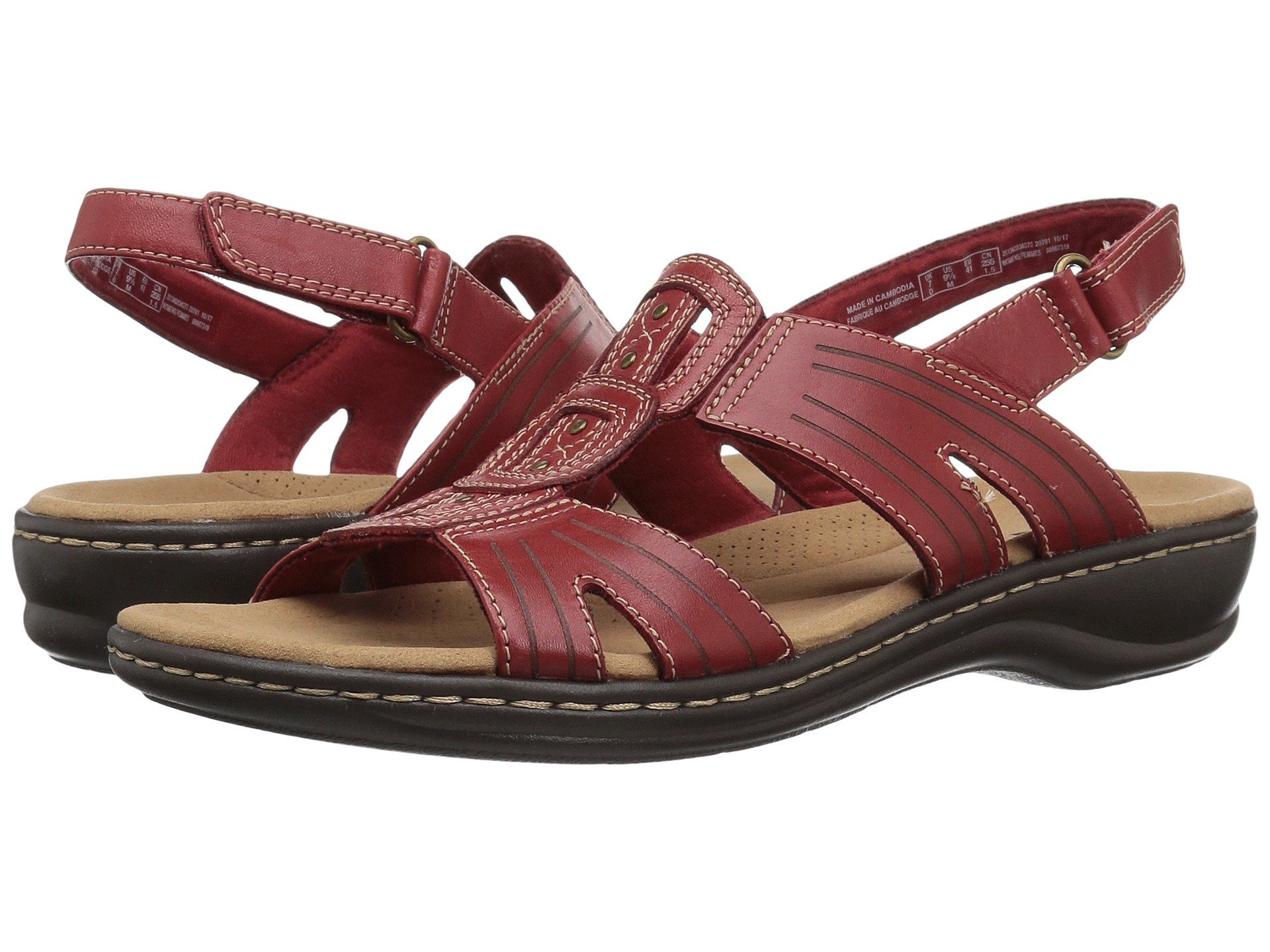 CLARKS Leisa Vine, Red Leather