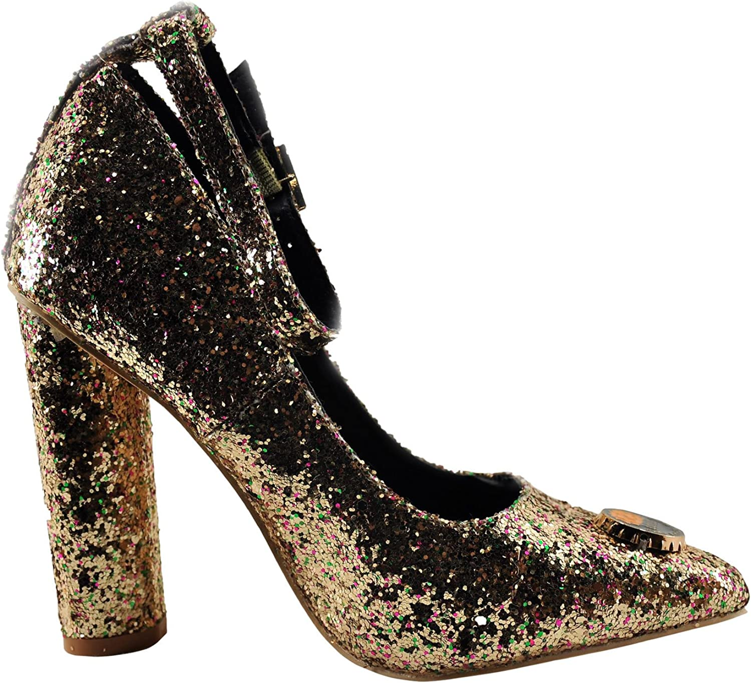CAPE ROBBIN Ella-25 Women's shoes Ella 25 Sparkled Pin Accented Pump