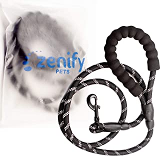 Zenify Pets Dog Lead - Durable Strong Chew Resistant Slip Lead Nylon Rope Padded Handle Mountain Climbing Harness Pet Pupp...