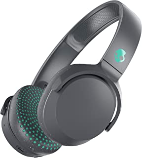 Skullcandy S5PXW-L672 Riff Wireless On-Ear Headphones with Microphone - Grey/Miami (Pack of 1)