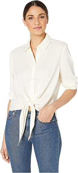 Tie Front Shirting Top