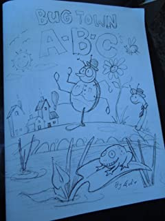 Bug Town A-B-C's Felix Kelly Coloring Book Autographed