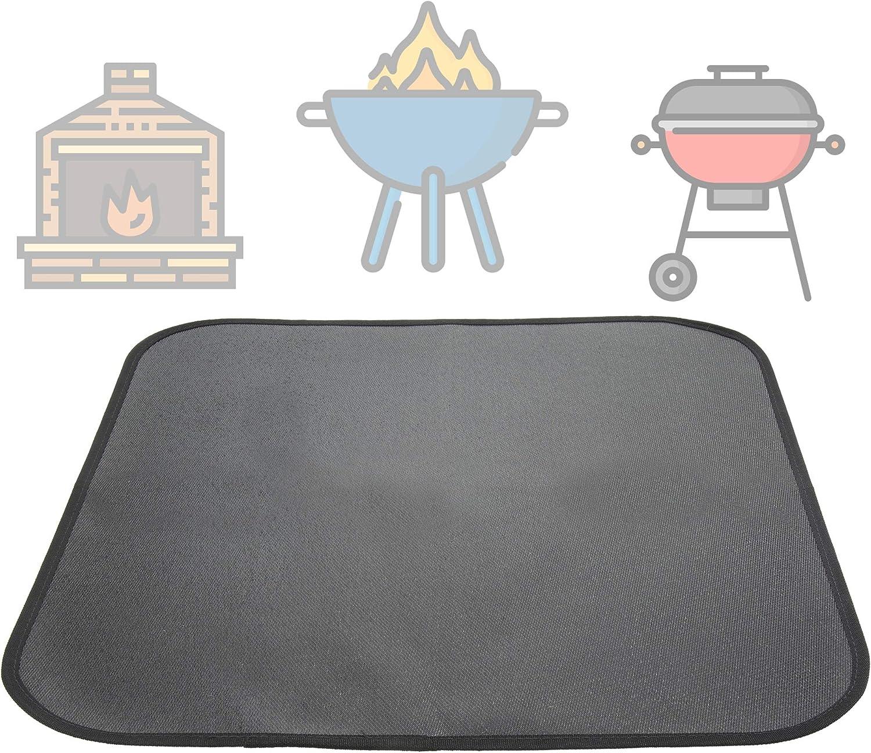 Biniiki sale shop Fire Pit Mat Max 90% OFF Square Patio Pi Fireproof