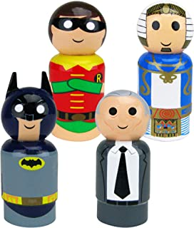 Bif Bang Pow! Batman Classic TV Set of 4 Pin Mate Wooden Figure