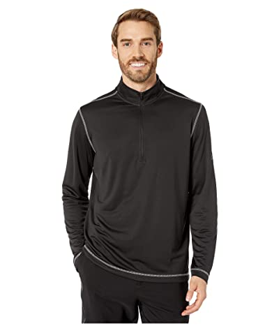 adidas Golf Heather UPF 1/4 Zip (Black) Men