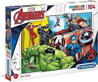 Clementoni Super Color Puzzle Avengers, Multi-Colour, 104 Pieces