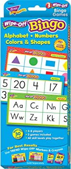 Trend Enterprises Alphabet, Numbers, Colors & Shapes Wipe-Off Bingo