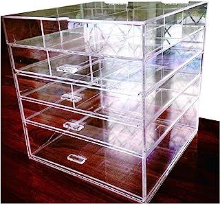 Cq acrylic Large Beauty Cube 5 Tier Drawers Acrylic Cosmetic organizer Handmade Multi function Makeup Organizer Storage,10