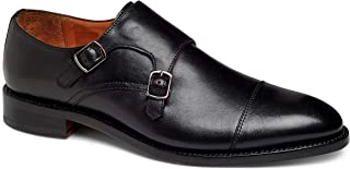 Anthony Veer Men's Roosevelt II Monk Strap Full Grain Leather Dress Office Formal Wedding Casual Shoes in Goodyear Welt