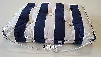 Kapok  Doppelkissen weiß//blau gestreift Silikonkapok