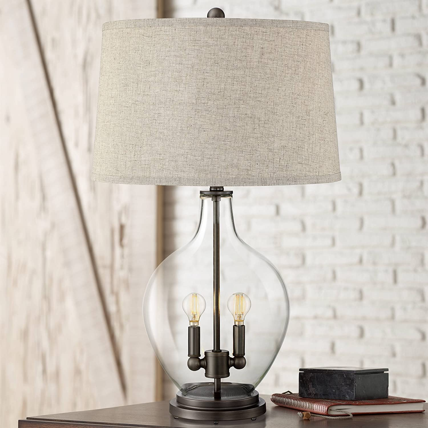 Becker Cottage Style Table Lamp Cle Nightlight Limited price Price reduction LED Fillable with