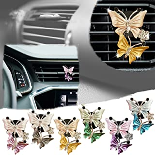 Creative Car Aromatherapy Vent Clips Dual Butterfly Car Air Vent Freshener Perfume Clip Aroma Diffuser Decoration, Car Per...