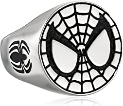 Marvel Comics Unisex Spider-Man Stainless Steel Ring