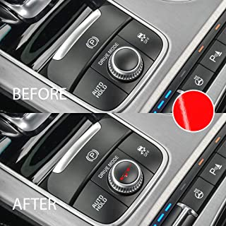 Bogar Tech Designs - Drive Mode Knob Dial Vinyl Decal Letters Compatible with Kia Stinger, Gloss RED