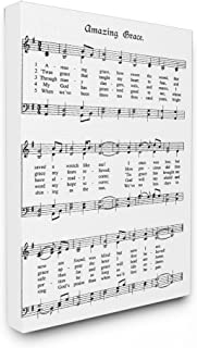 The Stupell Home Décor Collection Amazing Grace Vintage Sheet Music Stretched Canvas Wall Art, 16 x 20, Multi-Color