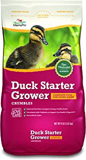 Manna Pro Duck Starter Grower Crumble | Non-Medicated & Supports Healthy Digestion | 8 Pounds