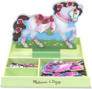 Melissa & Doug 18591 My Horse Clover Magnetic Wooden Dress-up Doll