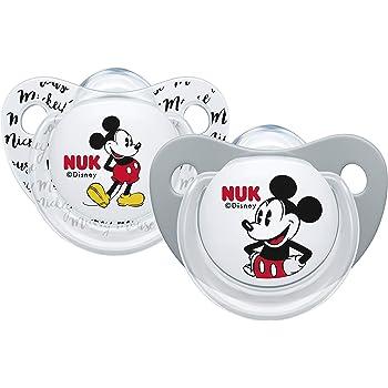 /18/meses con Box esterilizadoras 2/piezas NUK chupete Disney Baby silicona 6/