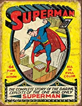 Desperate Enterprises Superman No 1 Cover Tin Sign, 12.5