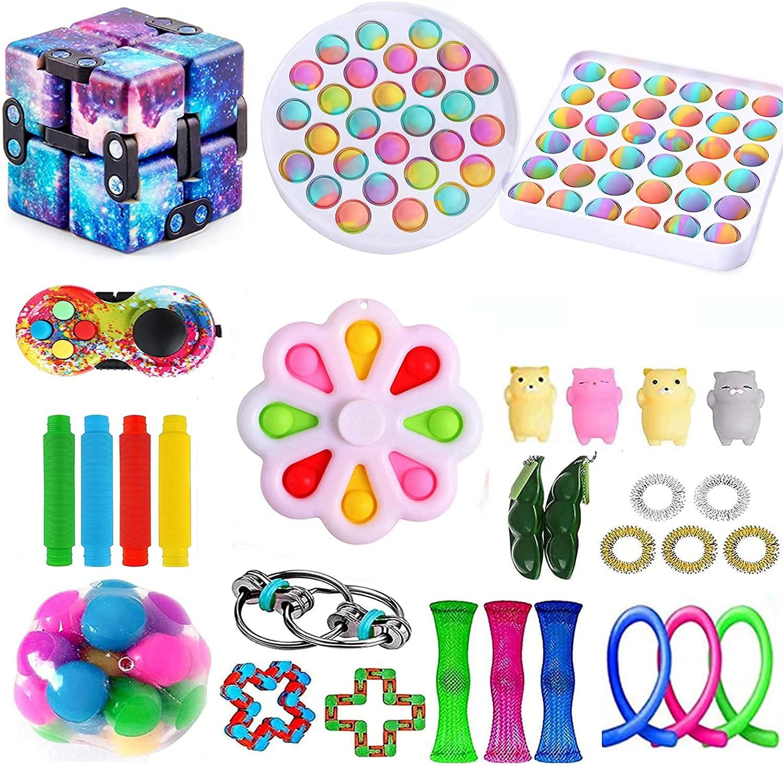 XINGJI 35 PCS Fidget Toys Pack, Sensory Fidget Toys Packs with S