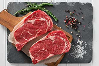 Greensbury Market - 6 (10 Ounce) USDA Certified Organic Grass-fed Ribeye Steaks - Born & Raised in the USA
